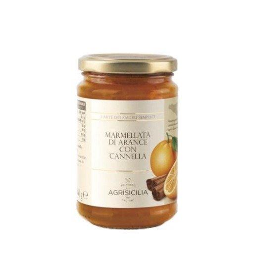 Agrisicilia -  Dżem pomarańczowy z cynamonem 360 g