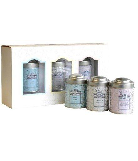 Ahmad Deluxe Collection - zestaw 3 puszek z herbatą liściastą