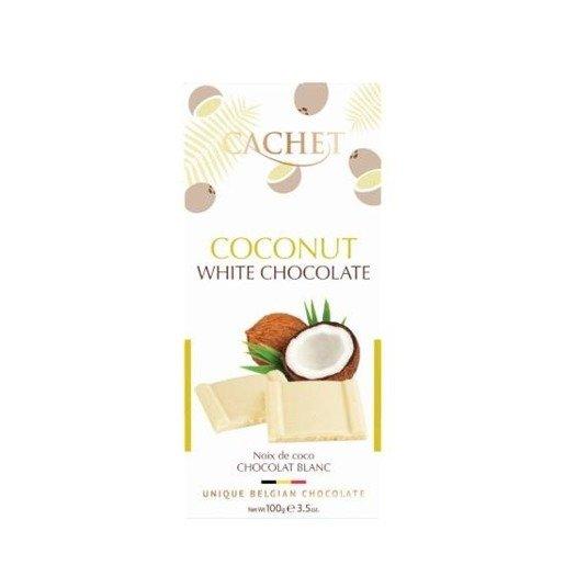 Cachet Coconut White biała czekolada z kokos 100g