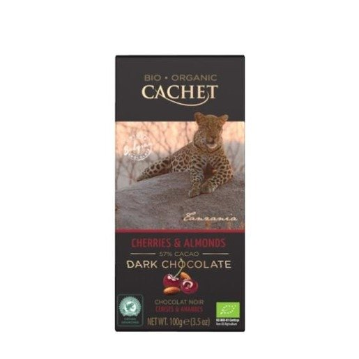 Cachet - Czekolada Cherries & Almonds 100g