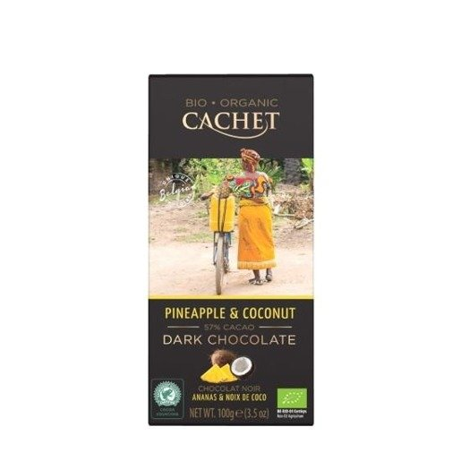Cachet - Czekolada Pineapple & Coconut 100g