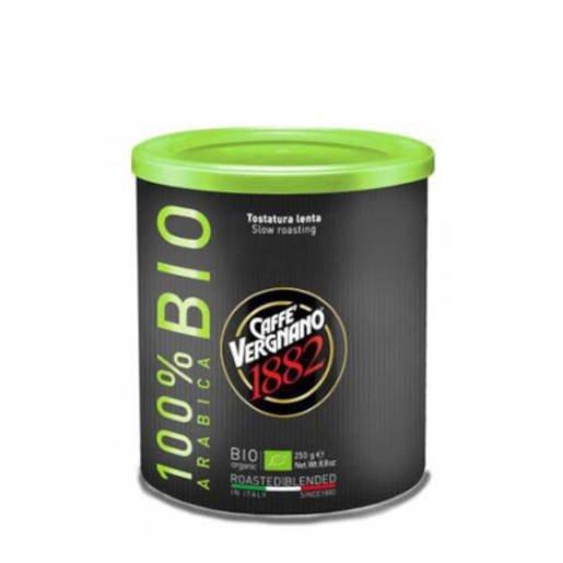 Caffe Vergnano 100% Arabica Bio 250g kawa mielona puszka