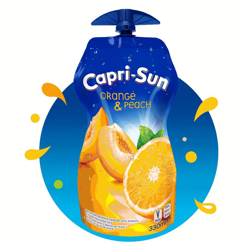 Capri-Sun sok pomarańcza brzoskwinia w tubce 330 ml