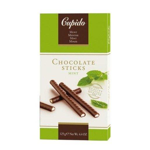 Cupido Chocolate Sticks Mint paluszki z miętą 125g