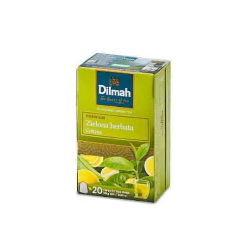 Dilmah Green Tea Lemon - zielona herbata 20 torebek