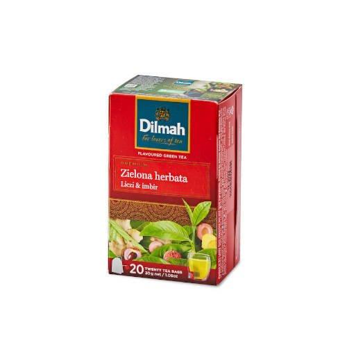 Dilmah Green Tea Lychee Ginger - 20 torebek