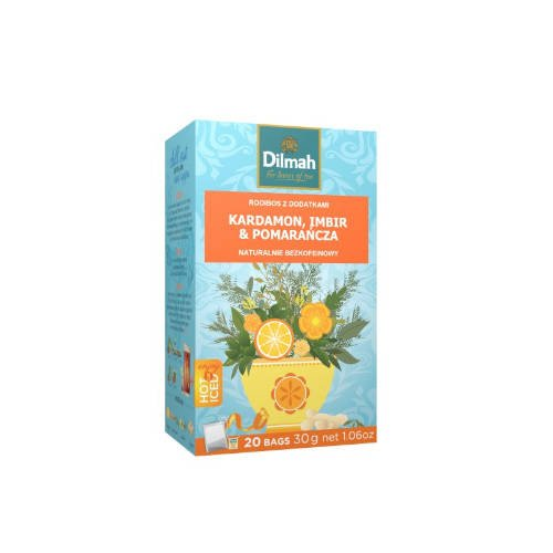 Dilmah Kardamon, Imbir & Pomarańcza - rooibos z dodatkami 20 torebek 30g