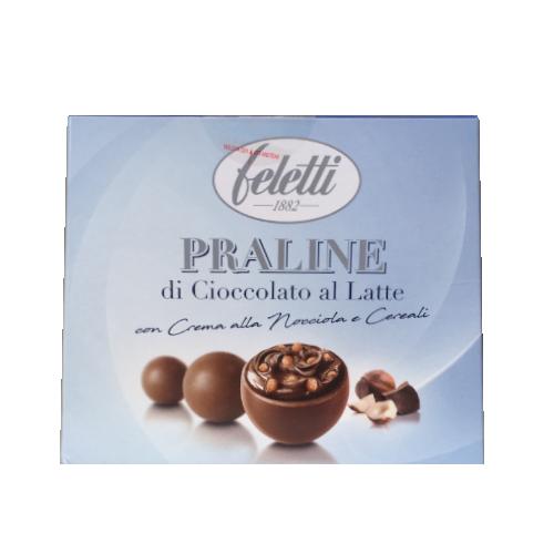 Feletti Praline di Cioccolato al Latte kartonik niebieski 90g