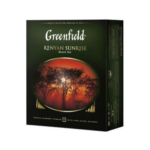 Greenfield Kenyan Sunrise - herbata 100 saszetek