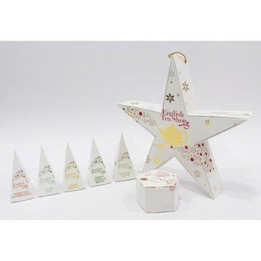 Holiday Collection Red Gold - gwiazdka 6 piramidek