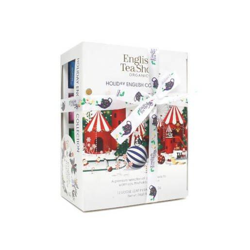 Holiday Collection White - 12 Piramidek z herbatą