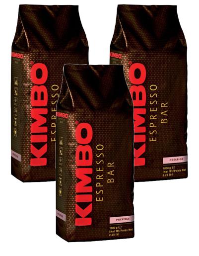 Kimbo Espresso Bar Prestige 1kg kawa ziarnista x3