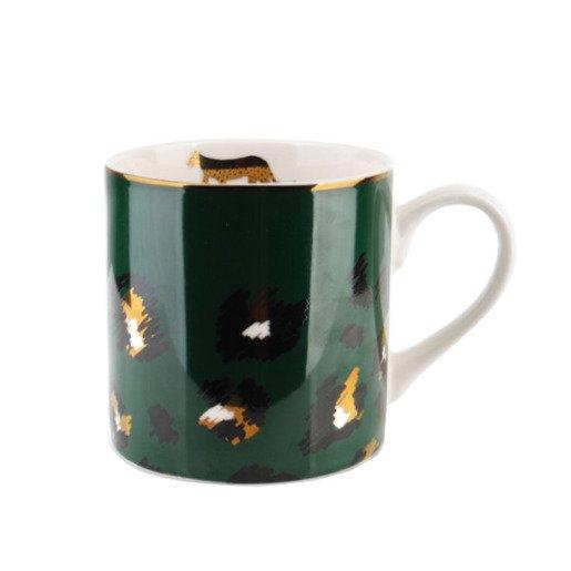Kubek do kawy zielony w cętki 400 ml