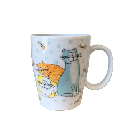Kubek porcelanowy w koty 250 ml Joschka