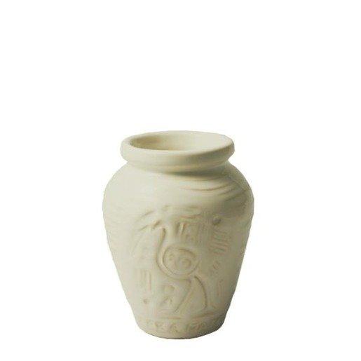 Matero Ceramiczne białe Aztek Ivory do yerba mate