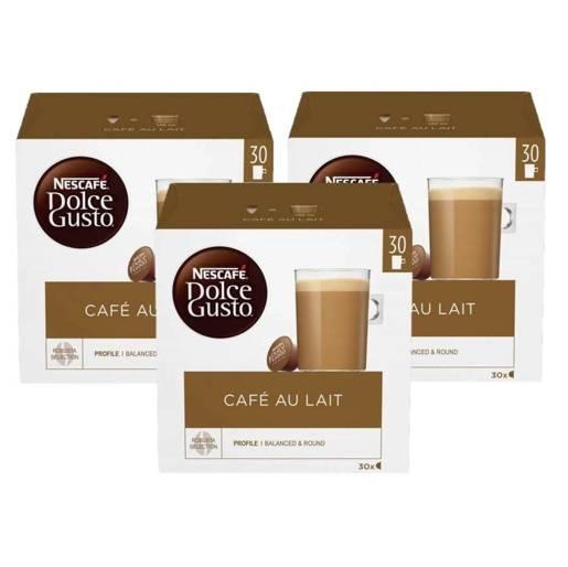 Nescafe Dolce Gusto Cafe Au Lait - 30 kapsułek x 3