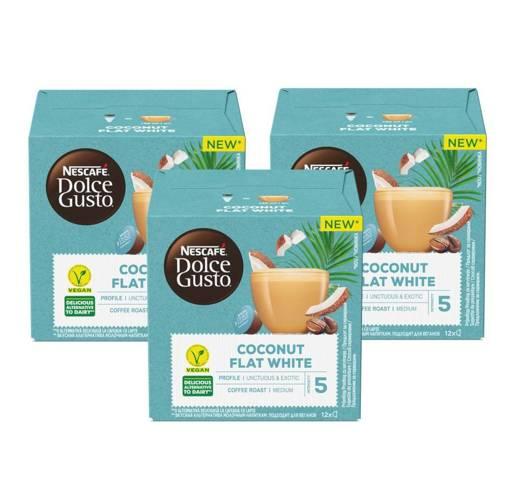 Nescafe Dolce Gusto Coconut Flat White 12 x 3