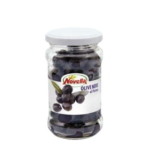 Novella Olive Nere Al Forno - 314 ml oliwki czarne pieczone
