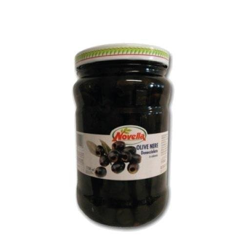 Novella Olive Nere Denocciolate - 720 ml czarne oliwki drylowane