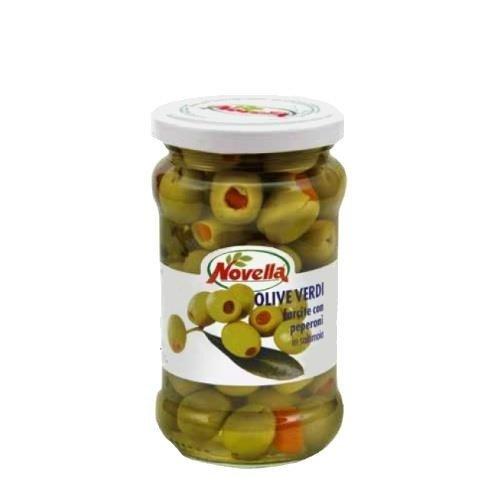 Novella Olive Verdi Peperone -  314 ml oliwki z papryczką
