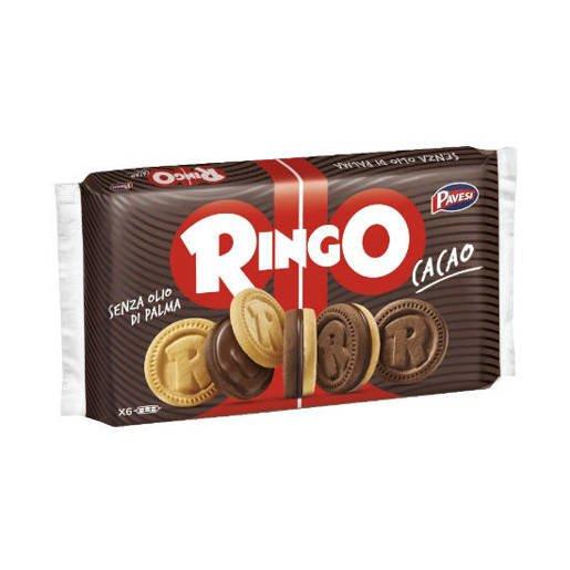 Pavesi Ringo Cacao - ciastka z kremem czekoladowym 330 g