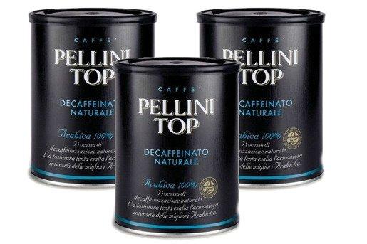 Pellini Top Bezkofeinowa 250g kawa mielona x 3