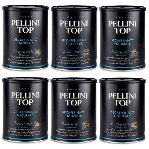Pellini Top Bezkofeinowa 250g kawa mielona x 6
