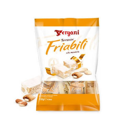 Vergani Torroncini Friabili Alle Mandorle 130 g - nugat z migdałami