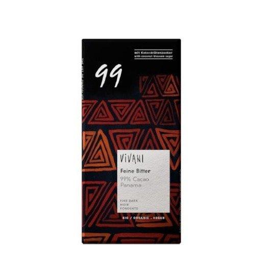 Vivani Feine Bitter 99% - czekolada gorzka 80g
