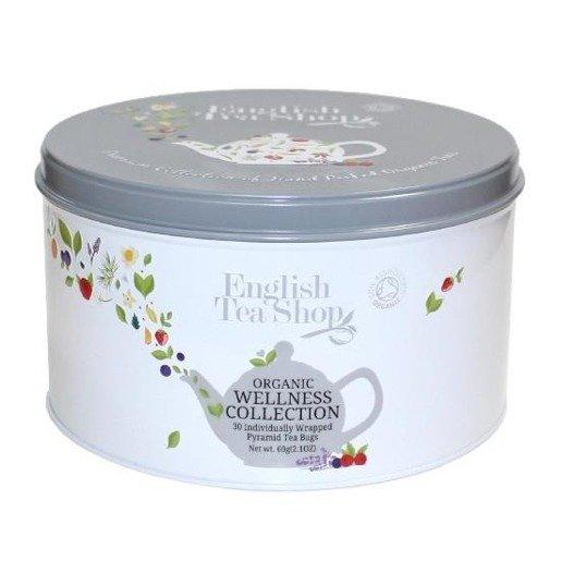 Zestaw herbata Wellness z 30 piramidkami - puszka